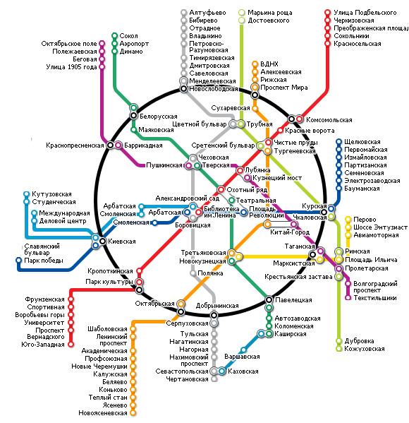 карта метро г москва